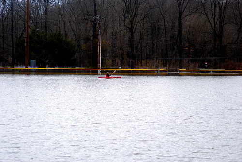 Kayaking on the Baseball Field