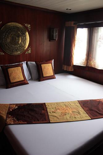 My room on the Halong Phoenix Cruiser