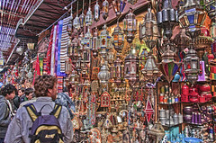 Into the Souk - 2 (Fil.ippo (on vacation)) Tags: market morocco marocco marrakech souk bazaar