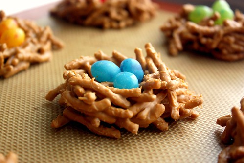 birds nest candies on silpat