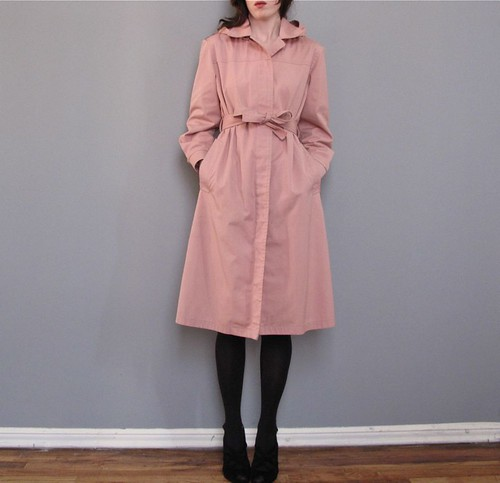 vintage pink london fog trench