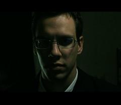 mind games (eastsideozzy) Tags: life lighting portrait people guy movie poster glasses emotion action gimp strobist canlamps