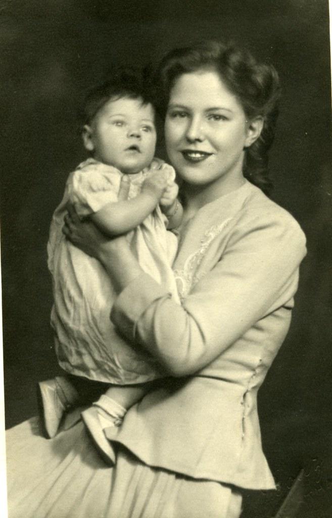 May Hamilton With Son Thomas 1945