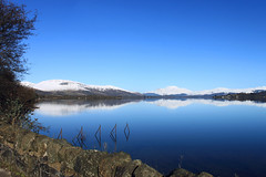 Mirrored (Debble) Tags: morning sky mountain snow reflection water landscape scotland cannon loch benlomond lochlomond waterscape 500d
