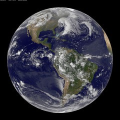 NASA GOES-12 Full Disk view March 30, 2010