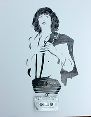 Ghost in the Machine: Patti Smith (iri5) Tags: iris art recycled ghost patti machine smith tape simmons erika cassette iri5