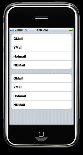 UITableView Section
