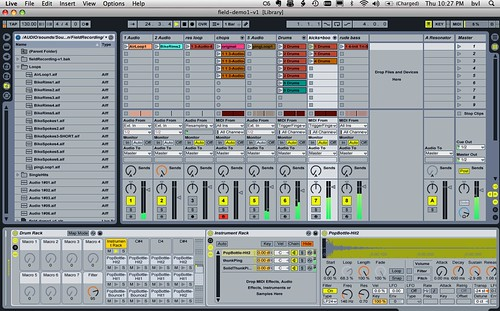 14/52: Ableton Live screenshots from sound design/programming