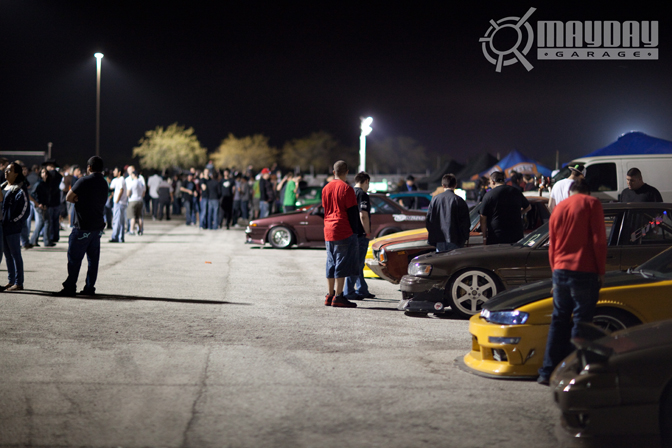Checking out the rides at IRDrift was part of the fun. KP
