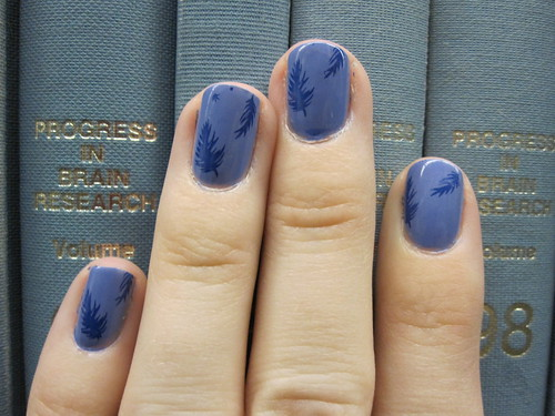 feather china glaze secret periwinkle