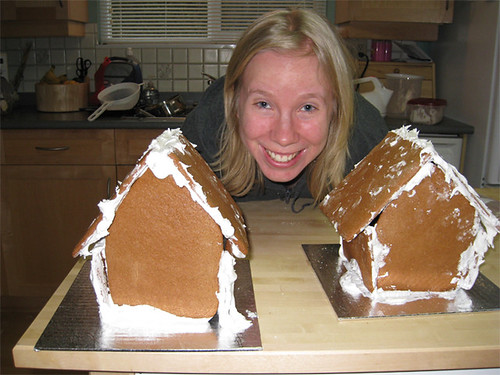 Amber built the gingerbread foundation
