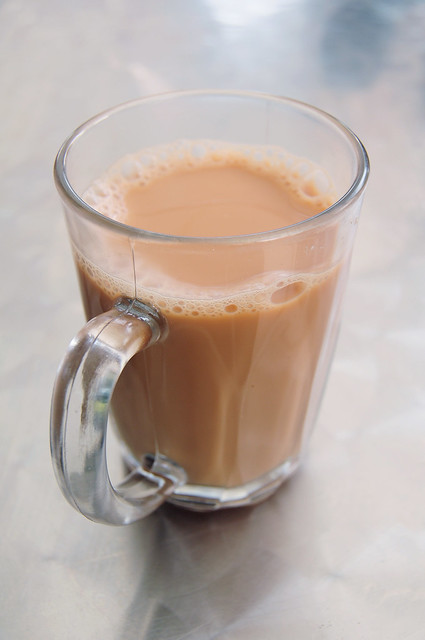 a delicious cup of Teh Tarik (milk tea)