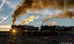 Sunset finale at Miller's Wash (kdmadore) Tags: grandcanyonrailway gcrx steamlocomotive railroad train arizona cbq lsi steamengine grandcanyon willaha coconinocanyon quivero williams