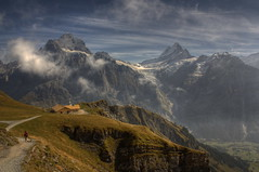 Grindelwald (Philippe Saire || Photography) Tags: mountain alps nature montagne alpes canon landscape eos switzerland suisse 1855mm grindelwald paysage eiger hdr gettyimages jungfrau photomatix 450d hoyand8 philippesaire