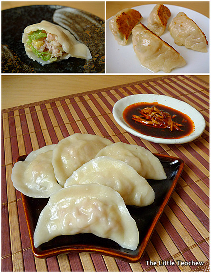Boiled dumplings collage