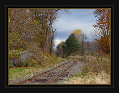 Getting Back On The Right Track (Photographic Poetry) Tags: november autumn fall nature true season october 1001nights traintrack template abigfave
