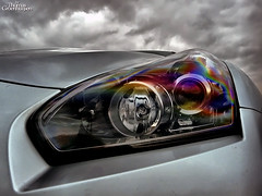 Headlight (ThomasGroenhuijsen) Tags: auto cars car kids lumix for nissan thomas rally automotive panasonic event headlight autos effect hdr gtr carspotting r35 dmcfz18 autogespot groenhuijsen