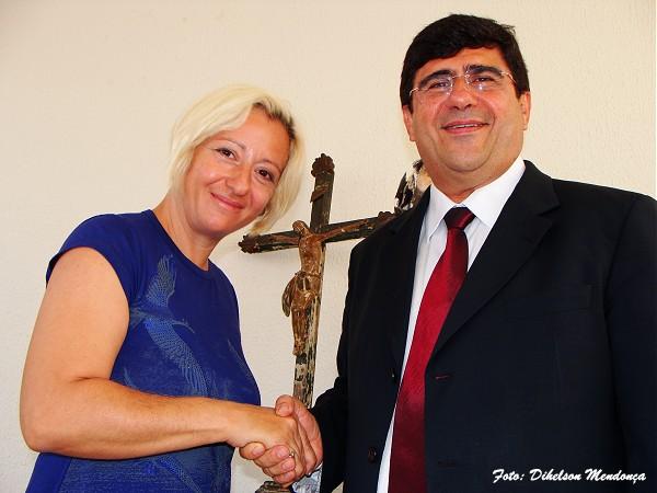 Prefeito Samuel Araripe e Gabriela Federico