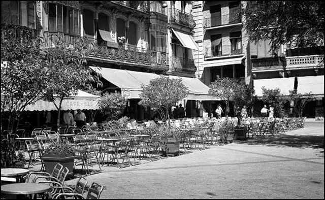 Café Español de Toledo poco antes de cerrar en 1982