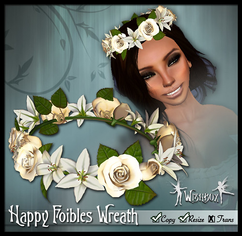 """Happy Foibles"" Hair Wreath (cream)"