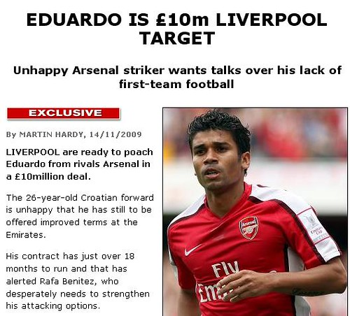 Untrue Eduardo rumor a poor fabrication