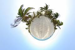 Coralita Beach (gadl) Tags: panorama france beach bay saintmartin gimp lucas projection planet handheld plage sxm 360 baie stereographic hugin plante enblend coralita mathmap stereographicprojection baielucas coralitabeach