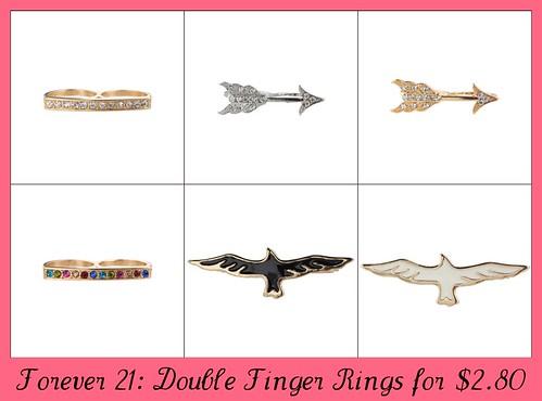 forever 21 double finger rings