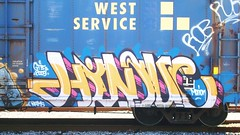 HINDUE (toxic waste dump) Tags: graffiti trains boxcar graff goldenwest hindue