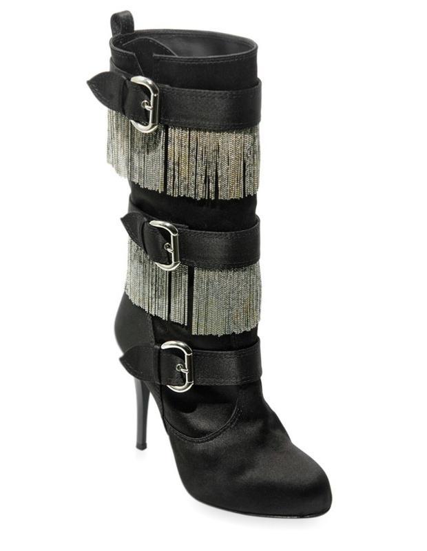 Guiseppe Zanotti chain fringe boot 1