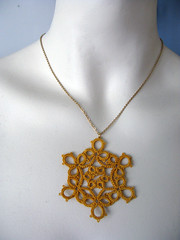 yellow snowflake necklace