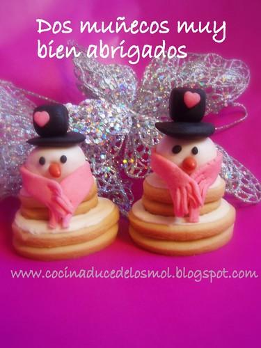 4muñecos de nieve en 3D