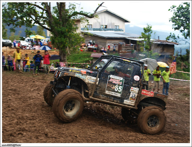 Ranau 4x4 Challenge - Kampung Tagudon Lama Ranau - Suzuki 4x4 SJ offroad