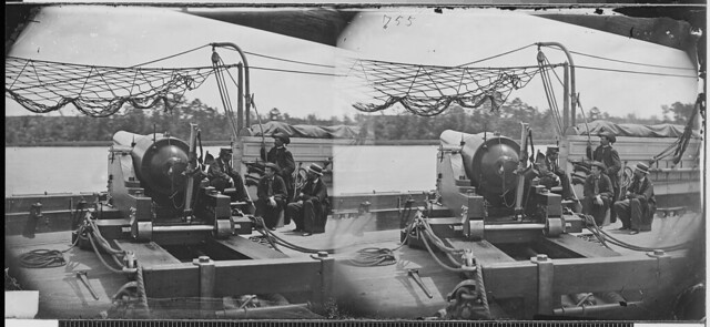 View of deck of gunboat by The US National Archives