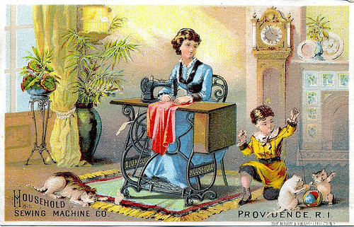 Trade Card-Houshold Sewing Machine