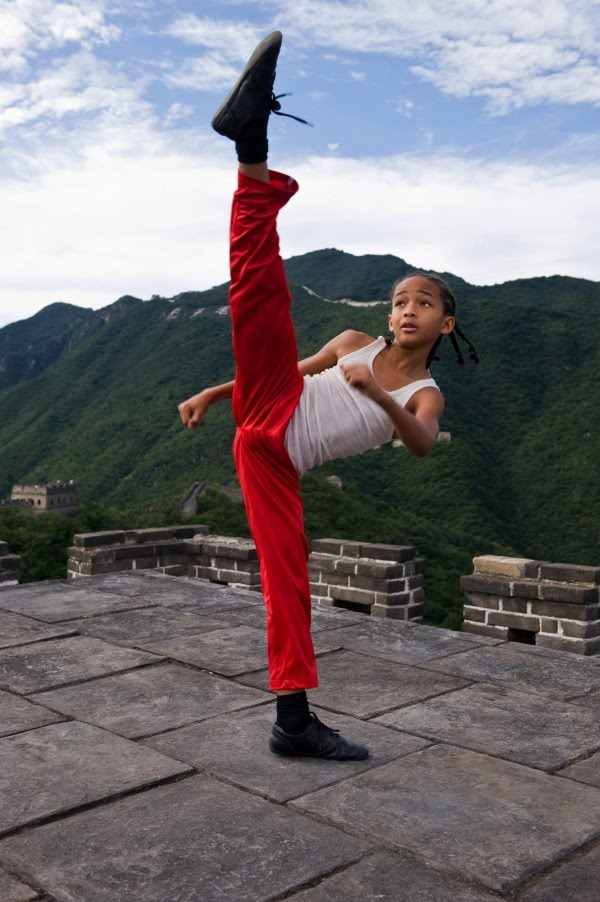 película Karate Kid Jaden Smith patada