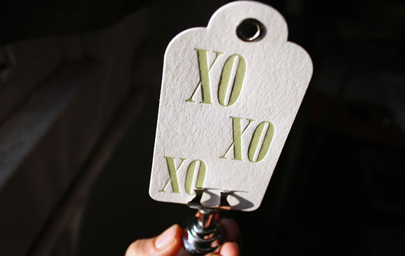 Letterpress Holiday Hang Tag by Smock