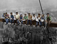 Lunch atop a Skyscraper (Mark Jaxn) Tags: life new york usa newyork man men skyscraper lunch workers construction sitting skyscrapers feeding photos eating many manhattan steel famous meals rockefellercenter officebuildings smoking constructionworkers boroughs highrise lifemagazine northamerica americans males northamericans rest dining resting adults seated buildingsite beams height materials girder urbanscenes atop lunches rcabuilding midatlantic constructionsites settlements markjackson postures foodconsumption workbreaks structuralworkers lifeincolor markjaxn jaxnphotography