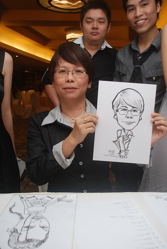 Caricature live sketching for Hock Cheong Printing Pte Ltd D&D 2009 - 5
