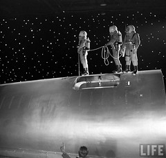 1950 ...  'Destination Moon' (x-ray delta one) Tags: sf life mars illustration vintage mercury space astronaut nasa 1950s skylab scifi lifemagazine sciencefiction 1960s outerspace tomorrowland apollo gemini 1950 mir cosmonaut vostok thefuture aerospace cccp saturnv soyuz worldoftomorrow spacerace spaceexploration magazineillustration destinationmoon georgepal wernervonbraun robertmccall chesleybonestell willieley