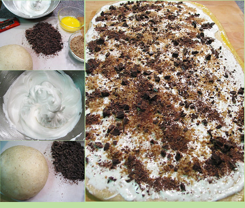 method of making chocolate meringue babka
