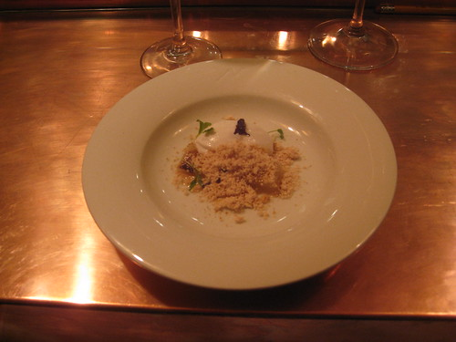 Minibar - DC - December 2009 - Thai Dessert: Grapefruit gelee, cilantro-coconut sorbet, ginger