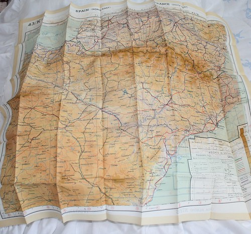 a map of spain and france. WW2 map of Spain and France