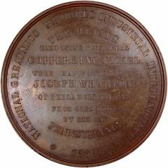 1869 Joseph Wharton Medal reverse