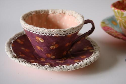 Fabric teacup