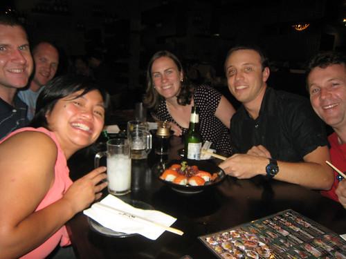 sushi roulette participants