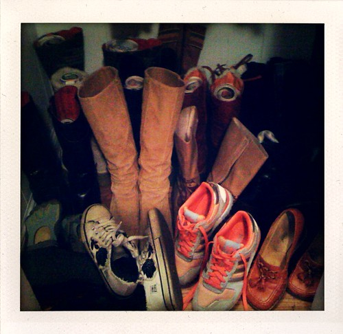 Closet/Shoe Organization: Before...