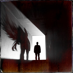 The Dark Half (Midnight - Digital) Tags: shadow cinema silhouette monster backlight dark square book artwork fear hell evil atmosphere creepy half expressionism horror demon novel cinematic stephenking