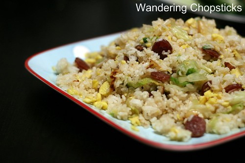Fried Rice with Chinese Sausage, Eggs, and Lettuce 12