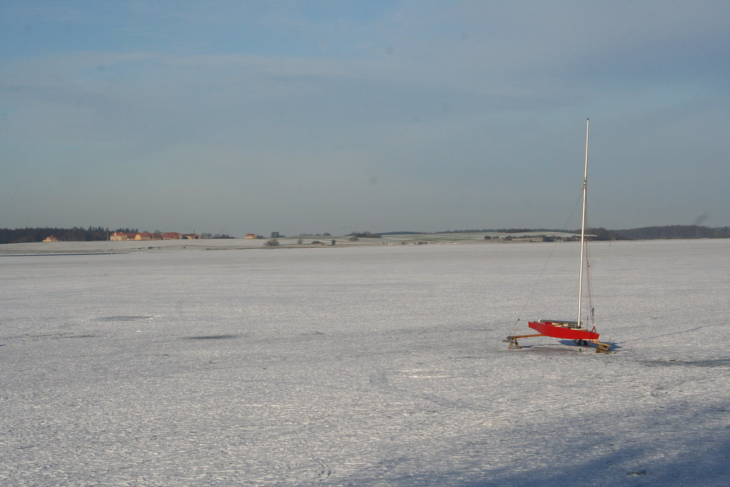 Iceboat at Roskilde Fjord