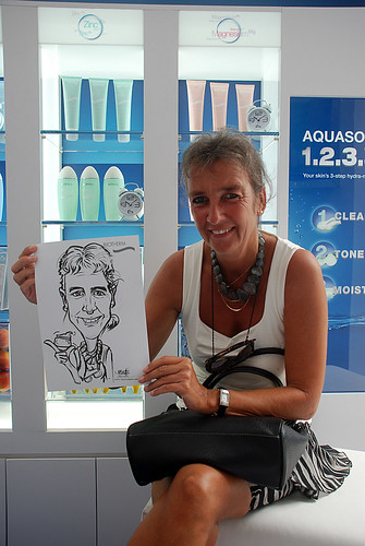 Caricature live sketching for Biotherm Roadshow Loreal - 14